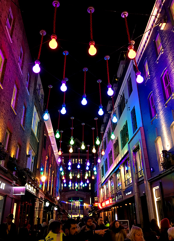Carnaby street lumiere london 2018 wonder london life